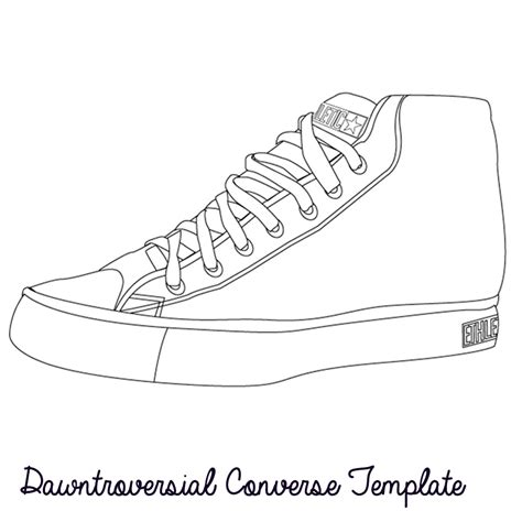 Sneaker Template shoe templates drawing images