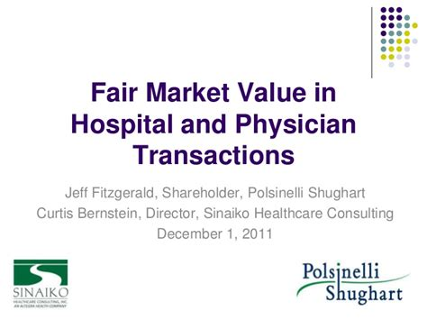 fmv in healthcare transactions
