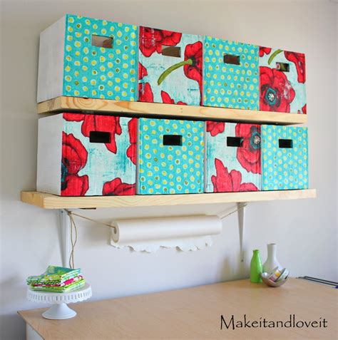 Craft Room, Part 1 (covered cardboard storage boxes