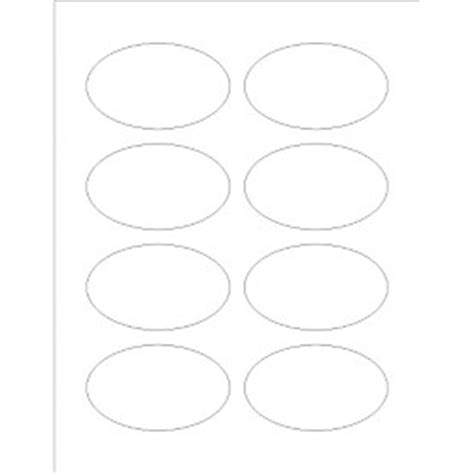Avery Oval Label Template templates print to the edge oval labels 8 per sheet