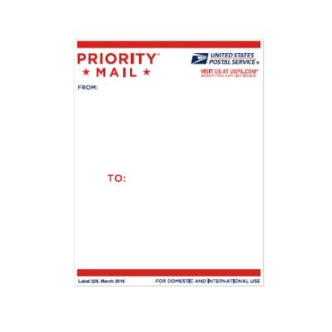 Priority Mail Address Label Usps Com Usps Shipping Label Template