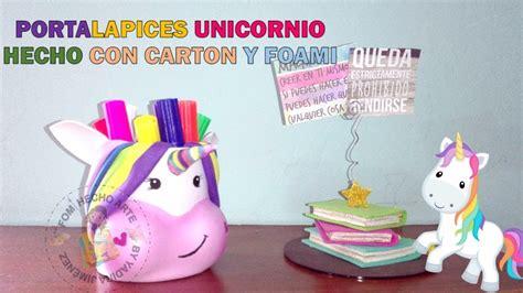 cuadernos decorados de unicornio con foami unicornio portalapiz de foami diy unicornio para el