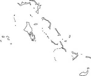 bahamas outline map