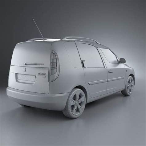 skoda praktik 2011 3d model hum3d