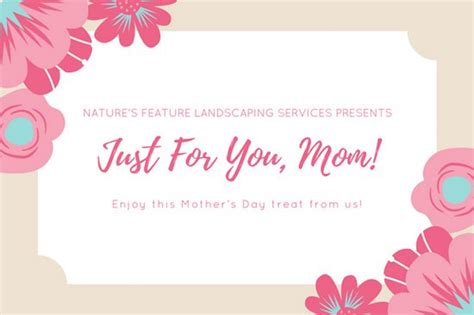 free printable gift certificates for mother s day peach spa mother s day gift certificate templates by canva