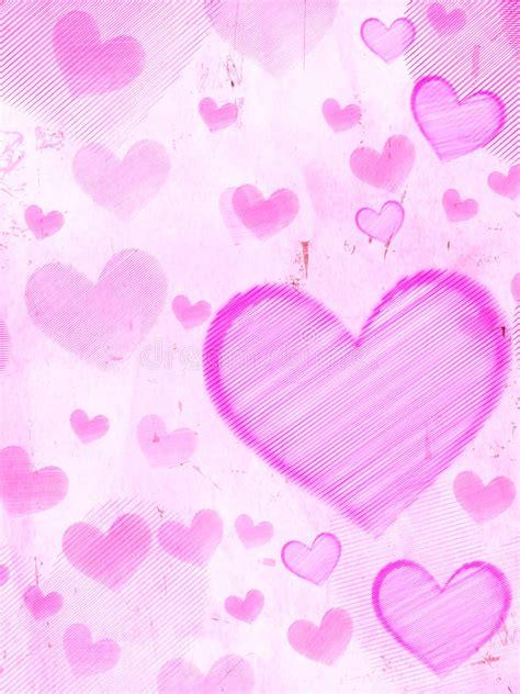 corazones rayados imagenes de archivo imagen 31017594 corazones rayados en el papel viejo rosado imagen de