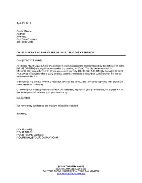 modulo per contratto affitto appartamento ammobiliato notice to employees of unsatisfactory behavior template