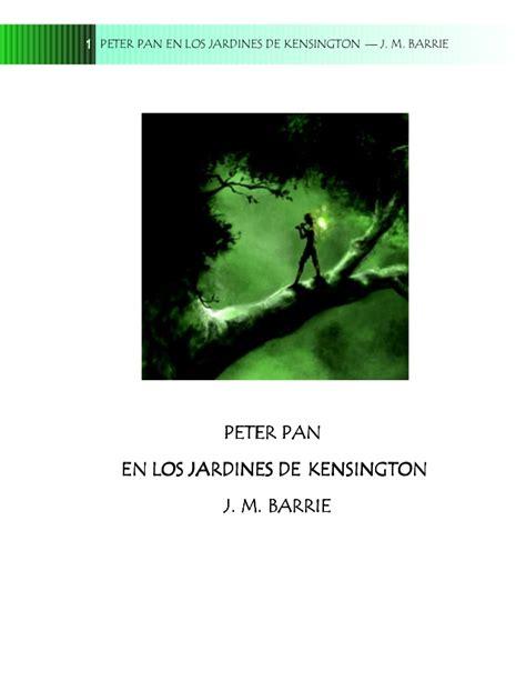 peter pan en los jardines de kensington peter pan y wendy libro para leer ahora peter pan el los jardines de kensington