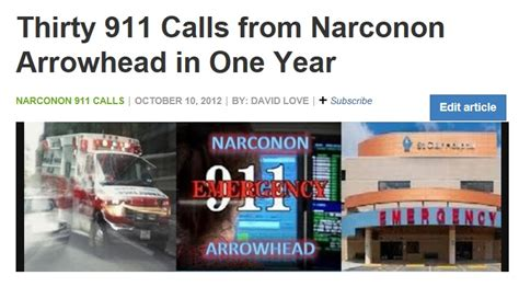 911 Emergency Detox by Thirty 911 Calls From Narconon Arrowhead In One Year Ex