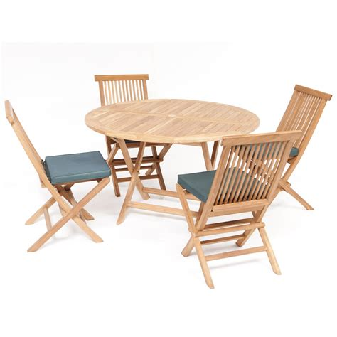 Folding Table And Chair Set by 4 Seater Table Set With Folding Chairs And Cushions