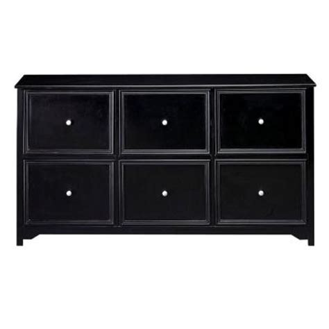 home decorators collection oxford black 6 drawer file