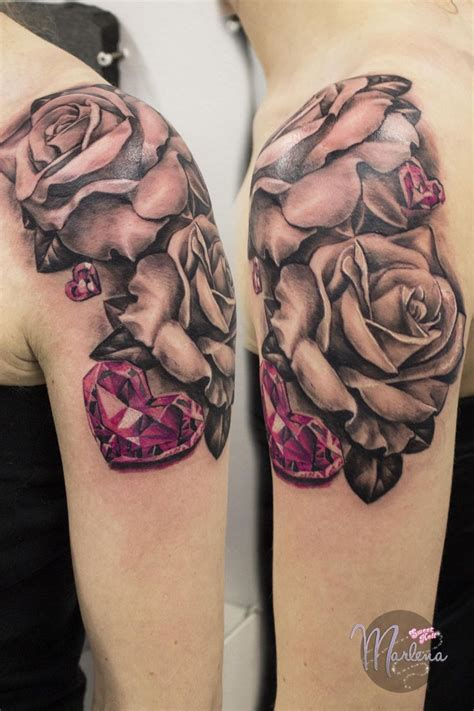 roses with hearts tattoos 16 best my black and grey tattoos images on