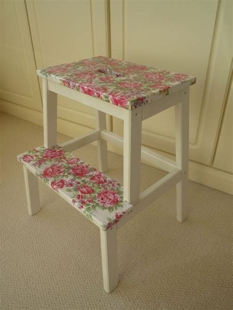 ikea bekvam stool spruced up step stool via dormer chic ikea bekvam 17 best images about ikea keukentrap on pinterest black
