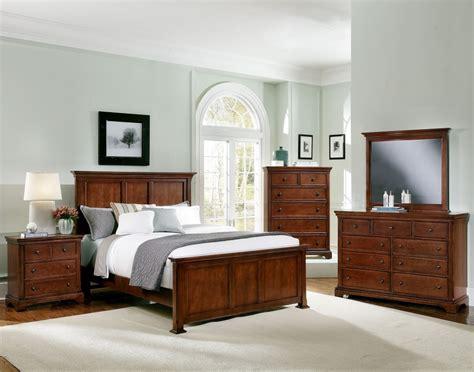 vaughan bassett bedroom furniture forsyth cherry panel bedroom set bb75 558 855 922