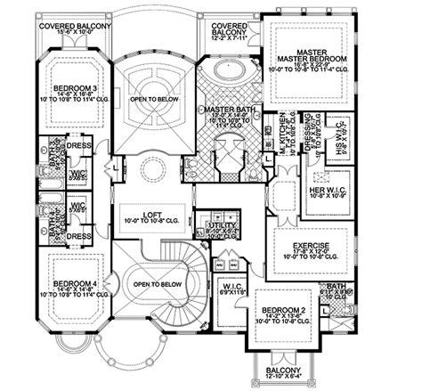 mediterranean home floor plans mediterranean floor plans thefloors co