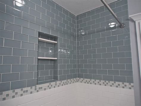 surf glass subway tile 3x6 for backsplashes showers more our lush 3x6 glass subway tile in fog bank grey www