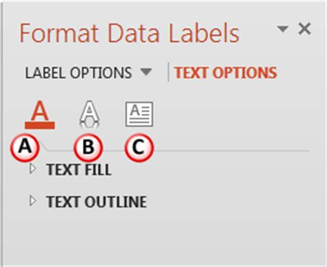 html format label text format data label options for charts in powerpoint 2013
