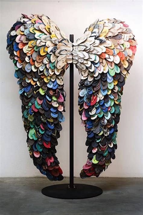 art of recycle flipflops angel s wings recyclart