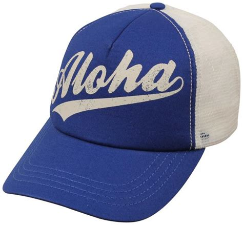 billabong aloha forever s trucker hat costa blue