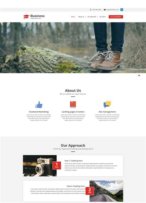 free responsive website templates for business 50 free responsive html5 and css3 templates