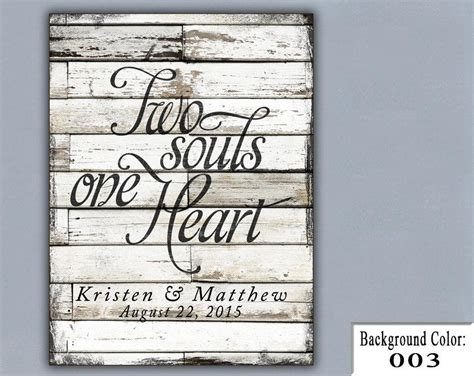 Personalized Handmade Gifts - ts two souls one wedding sign handmade
