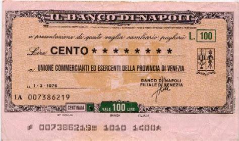 banco di na banco di napoli la lira banconote monete e miniassegni