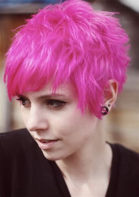 pink pixie haircut