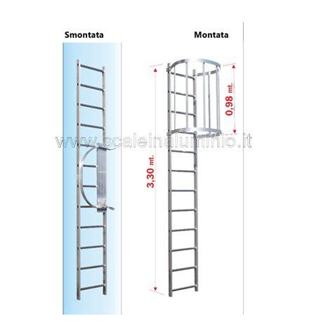 scala con gabbia scala con gabbia di protezione modulo di partenza 03