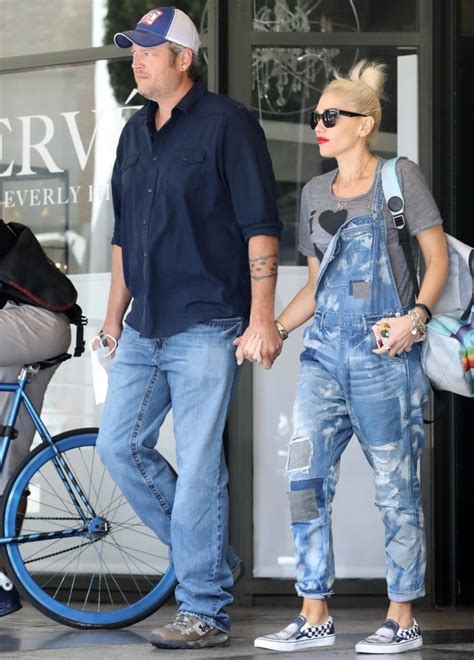 Gwen At War With Forever21 by Gwen Stefani In Prps Distressed Denim Overalls Denimology