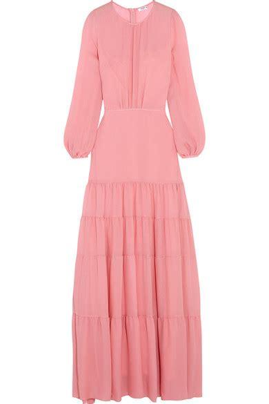 Lanvin Tiered Silk Gazar Dress by Vilshenko Helen Tiered Silk Gazar Gown Net A Porter