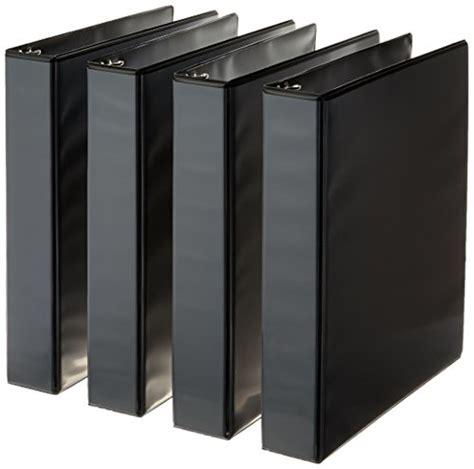 Amazonbasics 3 Ring Zipper Binder O Ring 3 Inch Black by Amazonbasics 3 Ring Binder 1 5 Inch 4 Pack Black