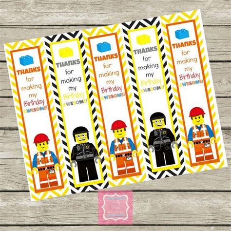 printable lego bookmarks lego movie chevron good cop emmett birthday thank you