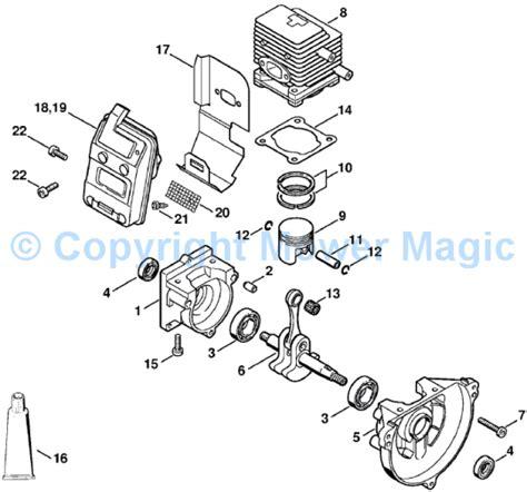 stihl bg 85 parts diagram stihl hs85 spares