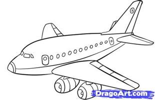 Drawing Plan how to draw a plane step by step airplanes