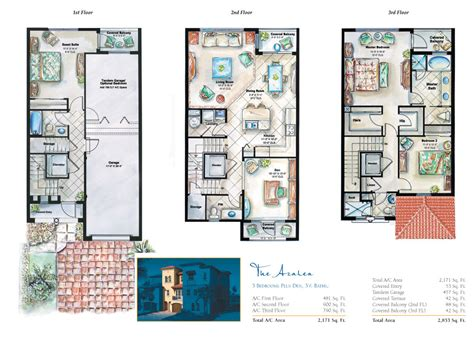 3 floor plan 3 story townhouse floor plans town plans townhouse story house and garage plans