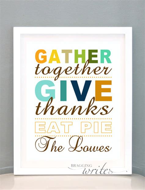 thanksgiving printable wall art thanksgiving wall art fall or autumn print by braggingwrites