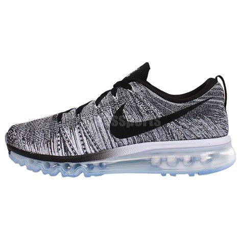 nike flyknit air max running shoes nike flyknit max oreo black white grey mens running shoes