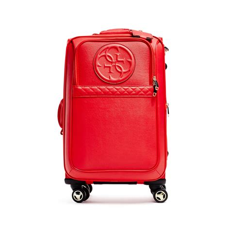 gorgeous red suitcases red suitcases guess korry travel roller suitcase in red lyst