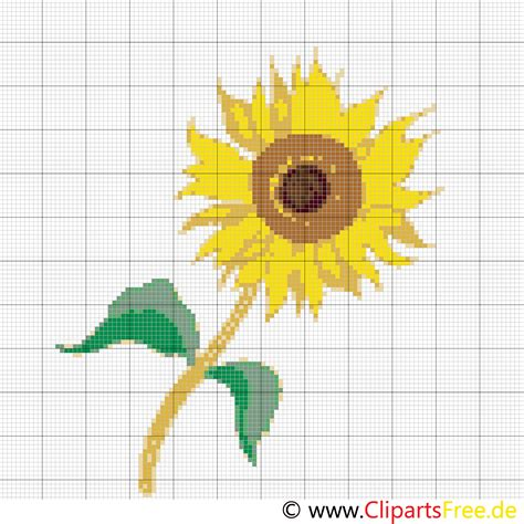 kreuzstich kreativ sonnenblume