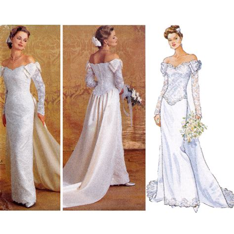 Wedding Gown Patterns by Bridal Gown Sewing Pattern Wedding Dress Pattern Butterick