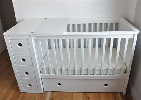 baby cots with drawers uk multifunctional cotbed with folded changing pad