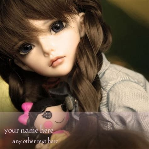 name on cute dolls images for whatsapp profile picture
