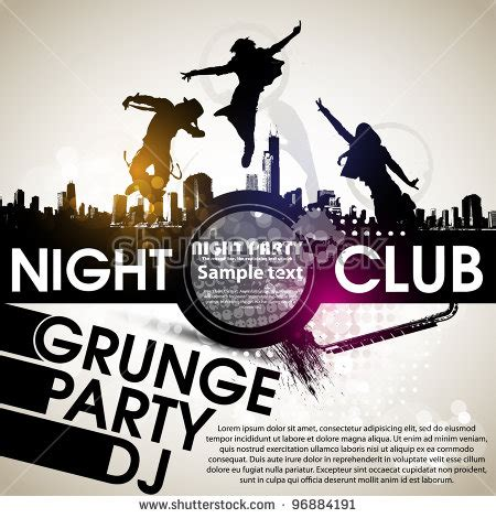 hip hop house party music grunge banner with an inky dribble strip with copy space abstract background for party stock