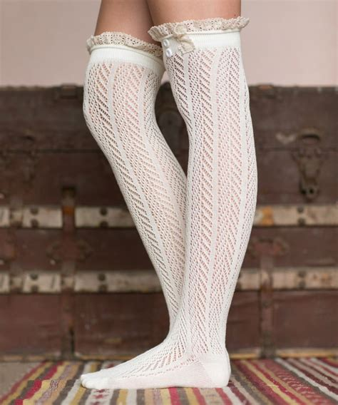 Lace Trim The Knee Boots 409 best images about socks tights on
