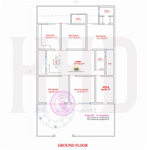 Stylish Indian Home Design   Floor Plan Home