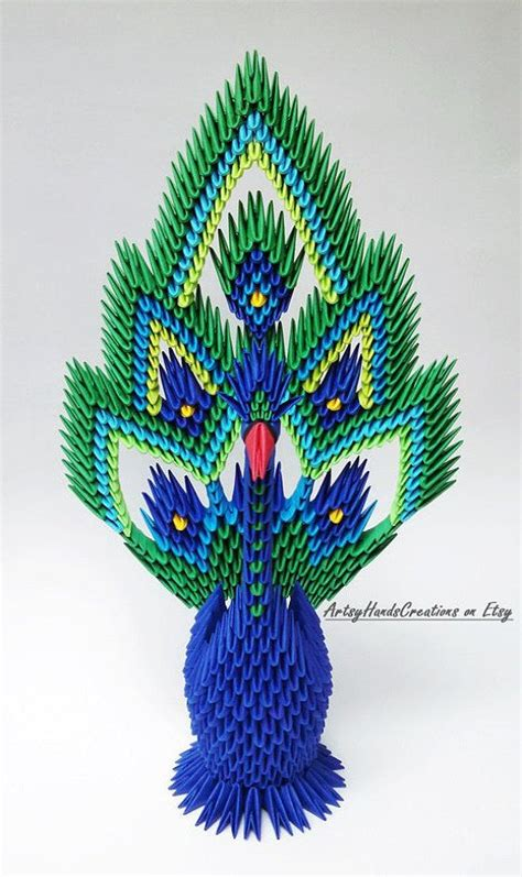 Peacock 3d Origami - get 20 3d origami tutorial ideas on without