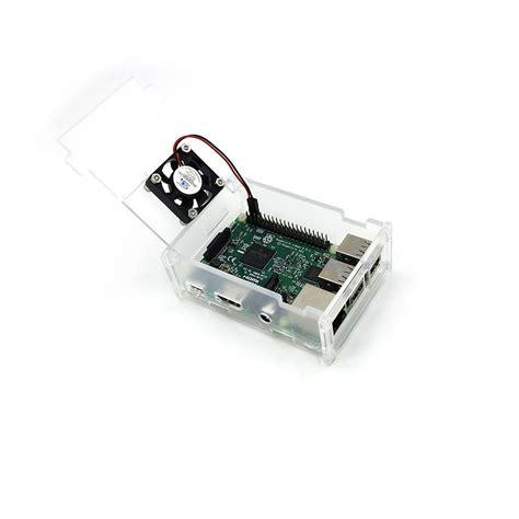 Raspberry Pi Casing Raspberry Pi B 2 3 Murah transparent acrylic cooling fan for raspberry pi 3 2 b