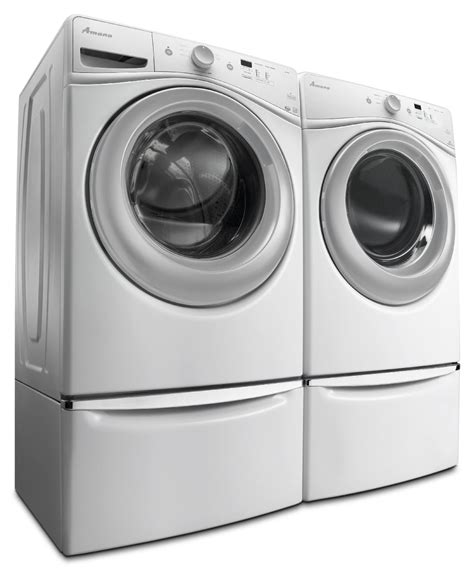 amana washer and dryer amana 4 8 cu ft front load washer and 7 4 cu ft electric dryer white the brick