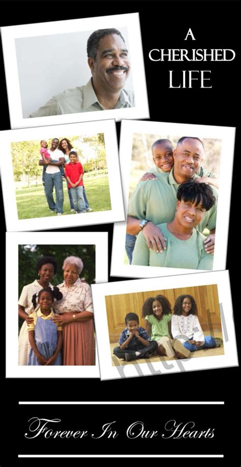 funeral collage template funeral program photo collage sles memorial collages