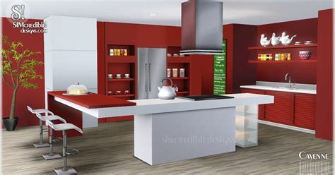 sims 3 kitchen ideas my sims 3 blog cayenne kitchen set by simcredible designs